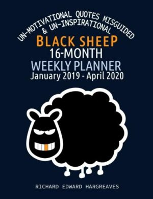 Black Sheep 16 Month Weekly Planner (January 2019 – April 2020) – Sheep Drawing Cover